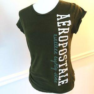 Aero T-shirt Xlarge Green 100% Cotton Ladies